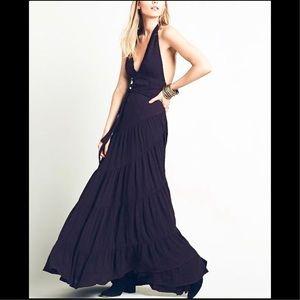 NWOT Free People Bella Halter Wrap Maxi Dress S